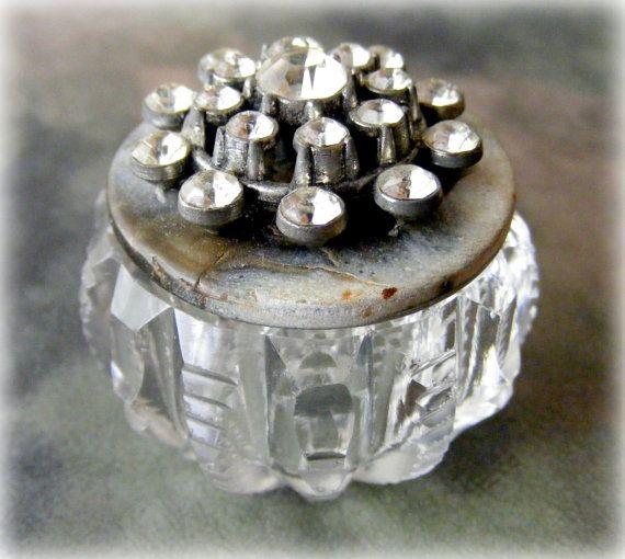 Square Trinket Box Vintage Salt Cellars Vintage Buttons Game pieces