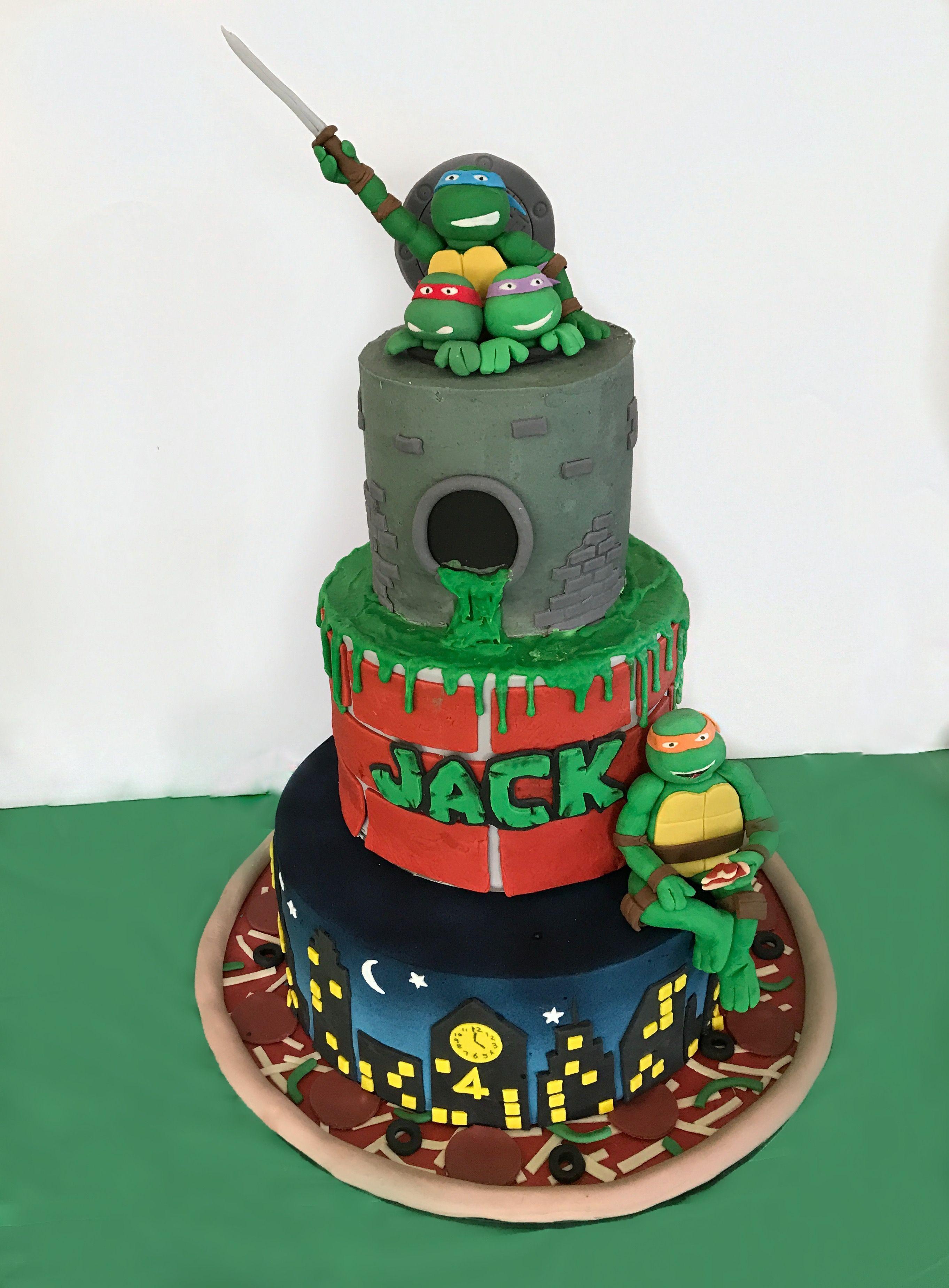 Teenage Mutant Ninja Turtles Cake 3 Tiers Tmnt Party Ninja Turtle Cake Teenage Mutant Ninja Turtle Cake Teenage Mutant Ninja Turtle Party Food