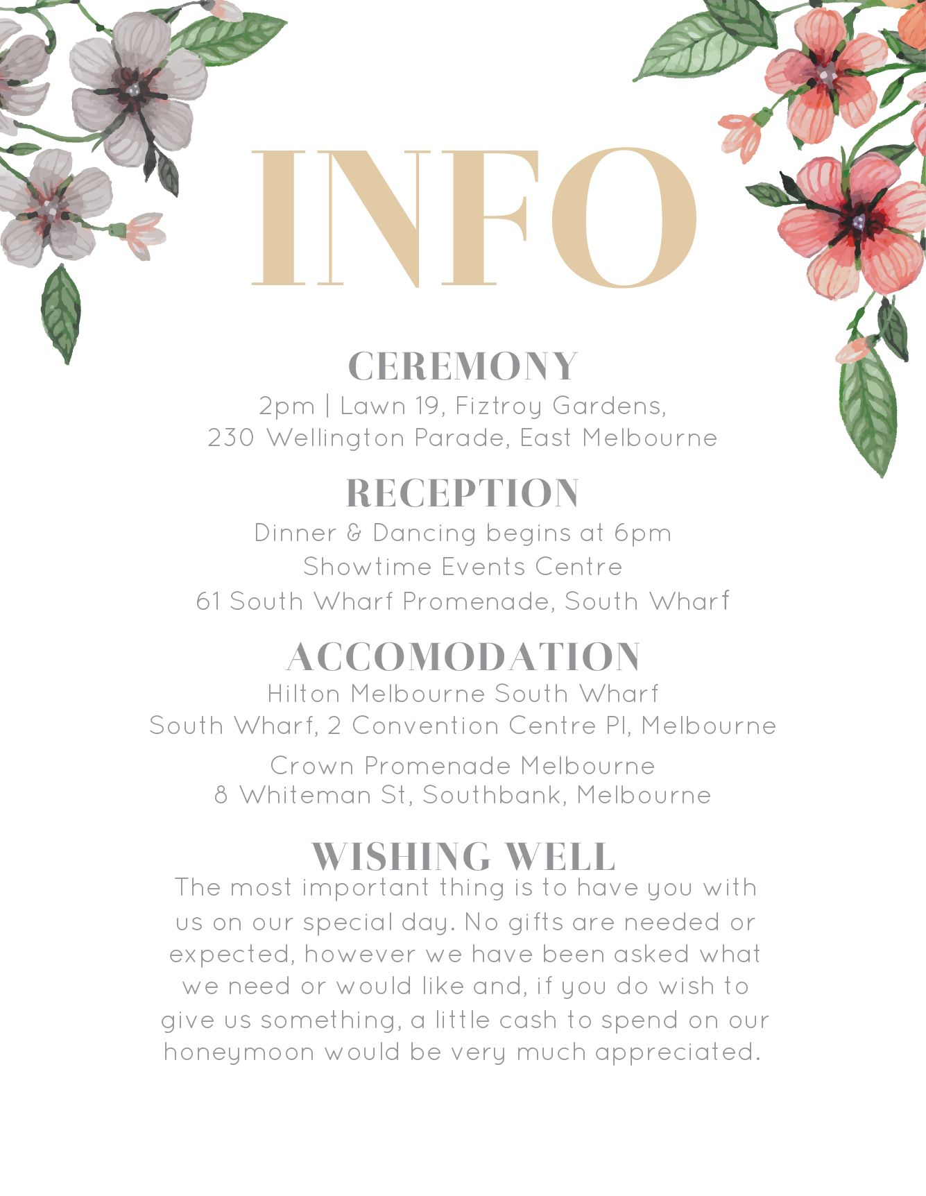 Floral Circle Invitation Set Info Directions With Images