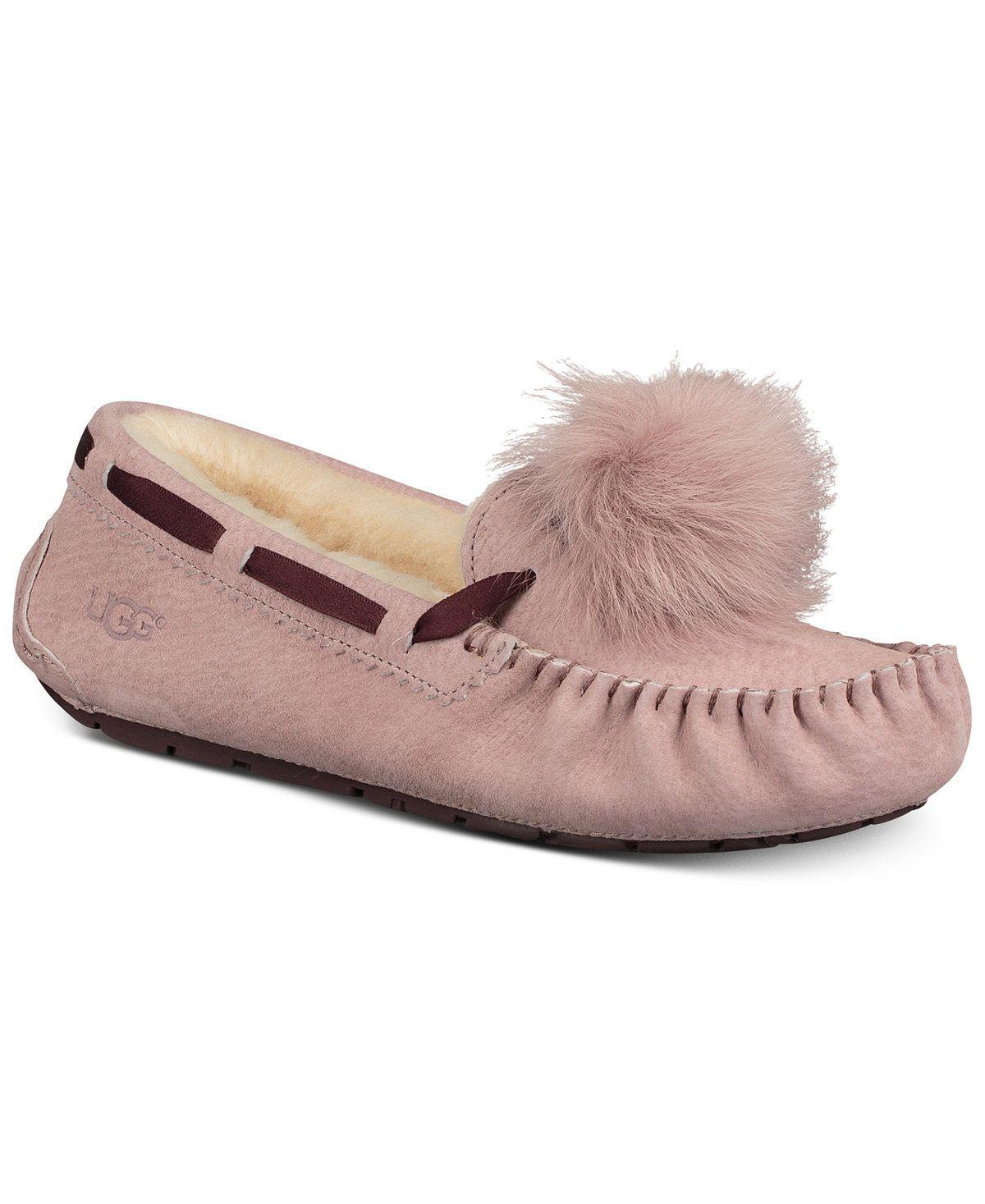 Dakota Moccasin Pom Pom Slippers