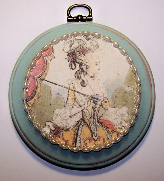 FREE SHIPPING Marie Antoinette Wall Art by antiqueorvintagenew, $15.00