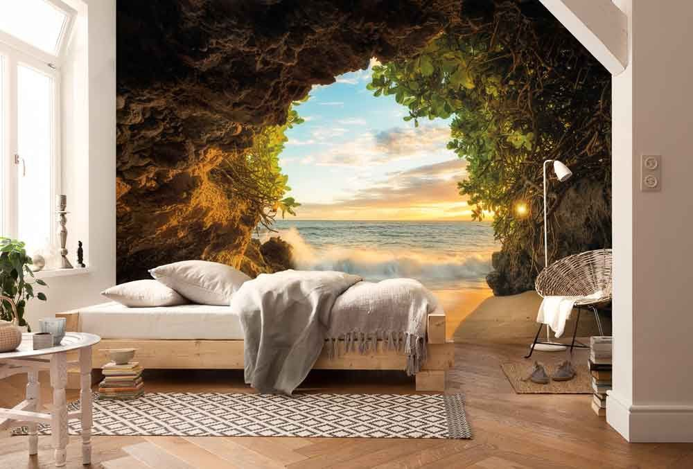 Natuur Behang Slaapkamer : Fotobehang hide out strand behang muurmode fotobehang in