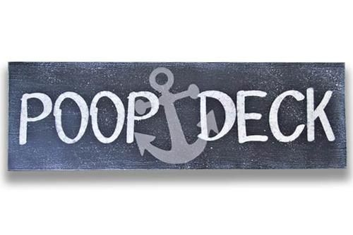 Photo of Poop Deck Wood Sign Nautical Nursery Decor