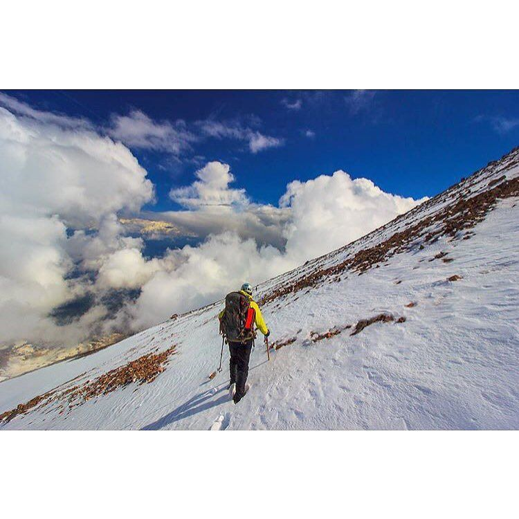 Clouds rolling in above the Wintun Glacier on Mt. Shasta.  @danshermanphoto #neverstopexploring #shasta #mtshasta #paradisewaits #snowwaterland