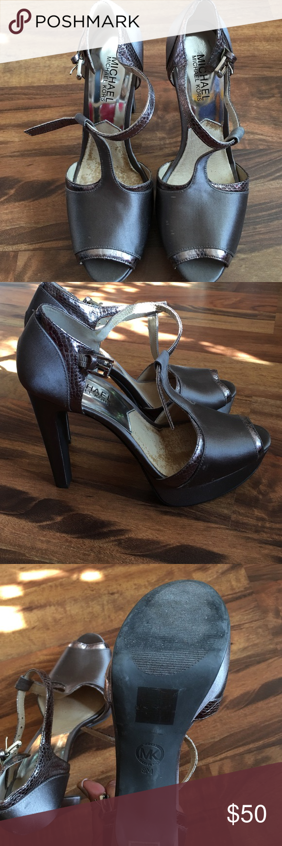 Michael Kors Collection beautiful heels Great condition..check the pictures carefully.Great for prom and weddings.. MICHAEL Michael Kors Shoes Heels