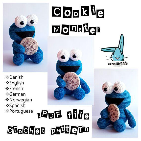 Cookie Monster - amigurumi crochet pattern. Languages: English ...