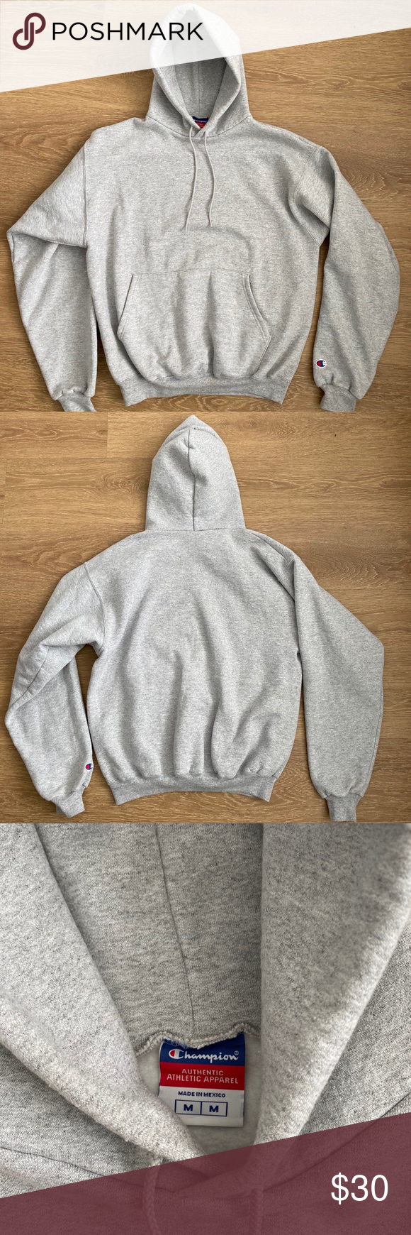 Champion grey hoodie Grey champion hoodie. Super soft and comfortable!! Champion Tops Sweatshirts & Hoodies #championhoodie