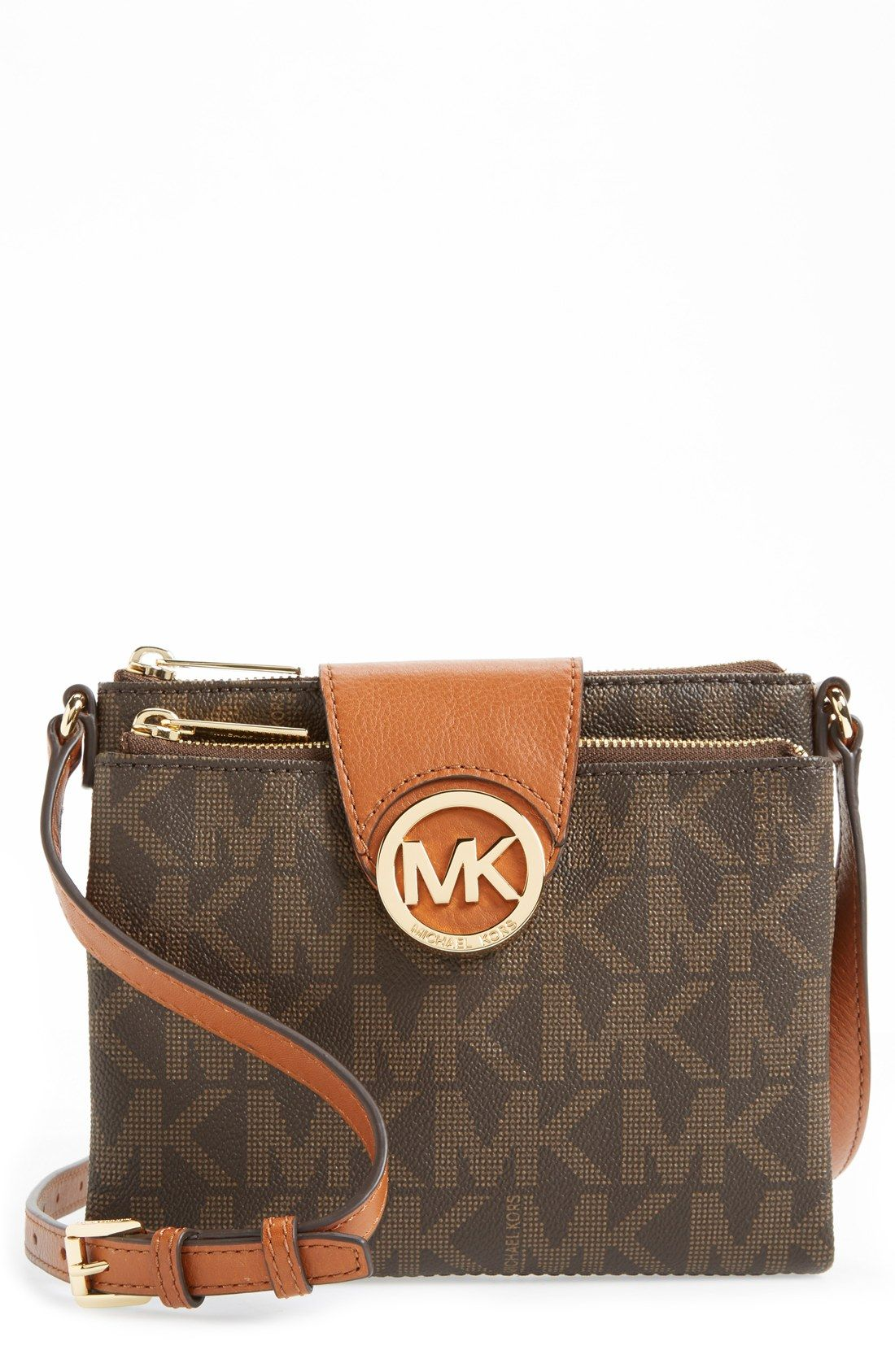 99309a511666f8 Free shipping and returns on MICHAEL Michael Kors 'Fulton - Large' Crossbody  Bag at Nordstrom.com. A sleek monogram medallion shines against a slender,  ...