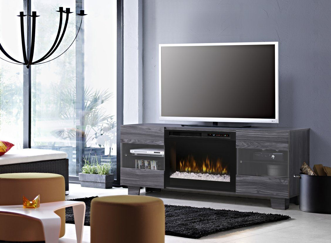 Scandinavian Style With A Low Profile Design Creates The Minimal Yet Sleek Appearance O Electric Fireplace Tv Stand Fireplace Tv Stand Fireplace Entertainment