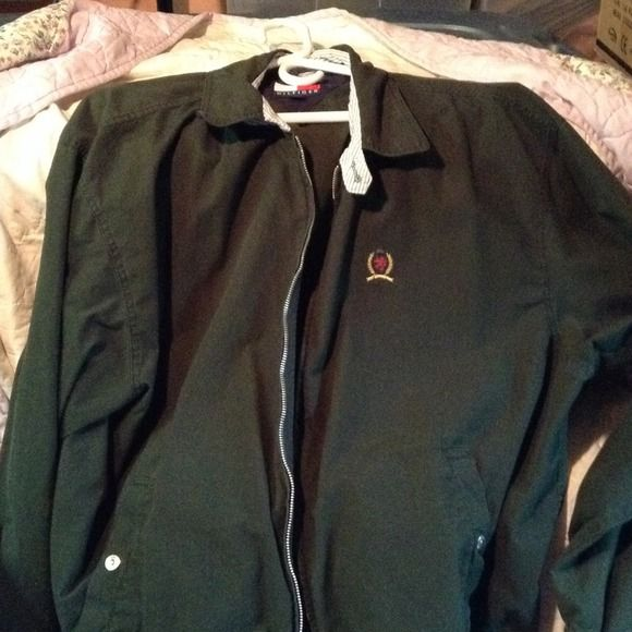Tommy Hilfiger dark green jacket Tommy Hilfiger dark green jacket Tommy Hilfiger Jackets & Coats