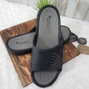 Champion Black Sport Comfort Velcro Sandals Sz 11