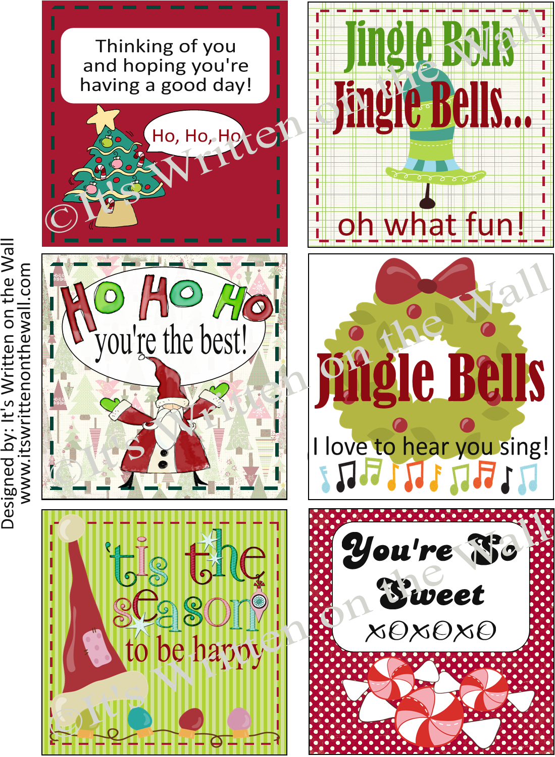 Christmas Lunch Box Notes and... - Darling Doodles |Christmas Lunch Box Notes