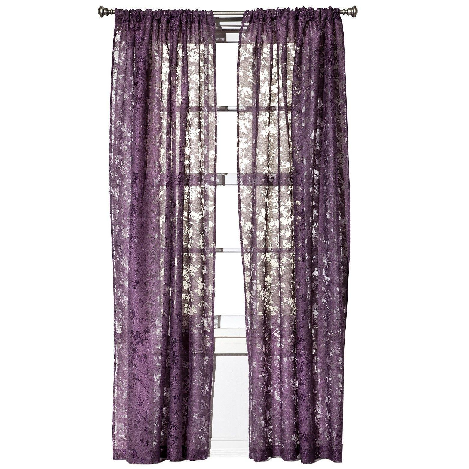 Botanical Burnout Sheer Curtain Panel