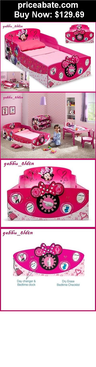 Kids Furniture Interactive Wood Toddler Bed Minnie Mouse Disney Bedroom Pink
