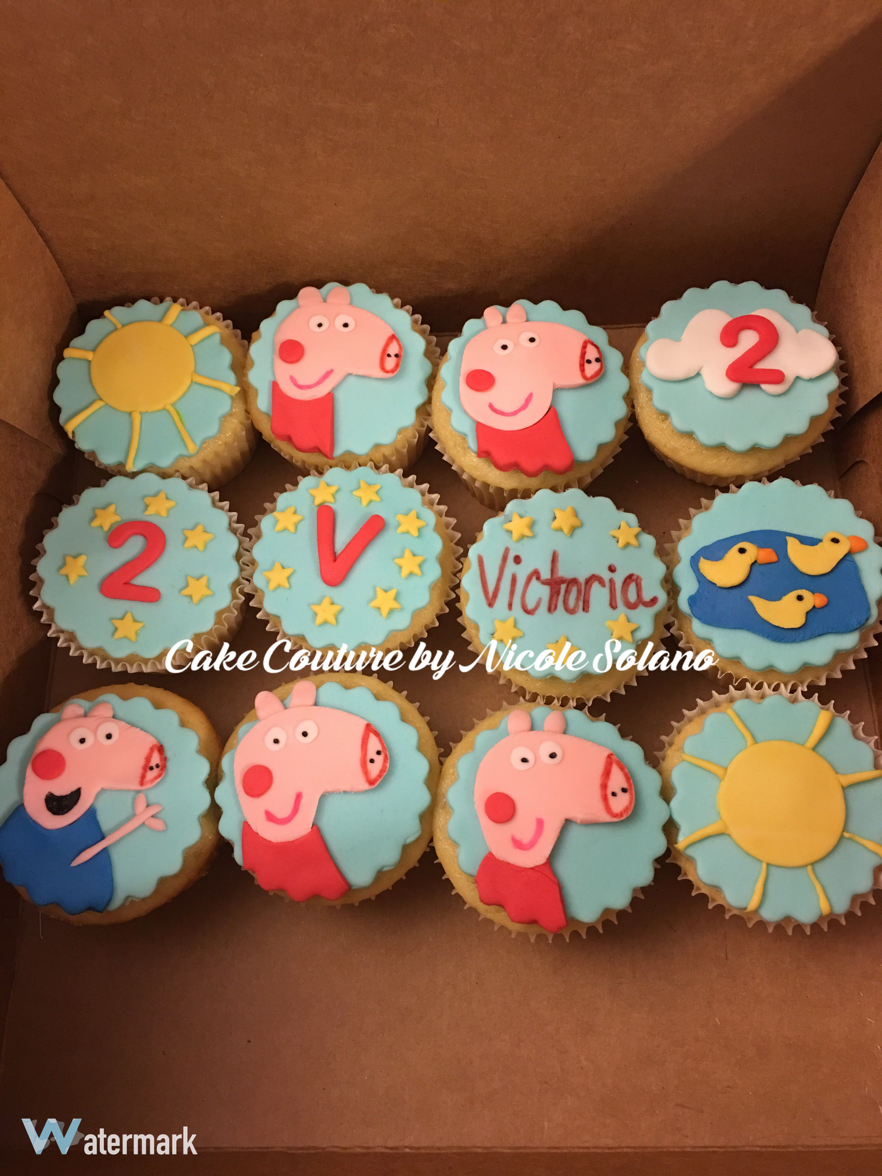 Peppa Pig Custom Cupcakes Birthday Cake Couture By Nicole Solano
