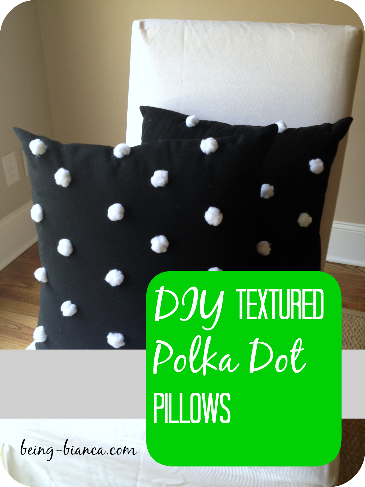 DIY Polka Dot Pillows - so many cute color combos make these preppy ...