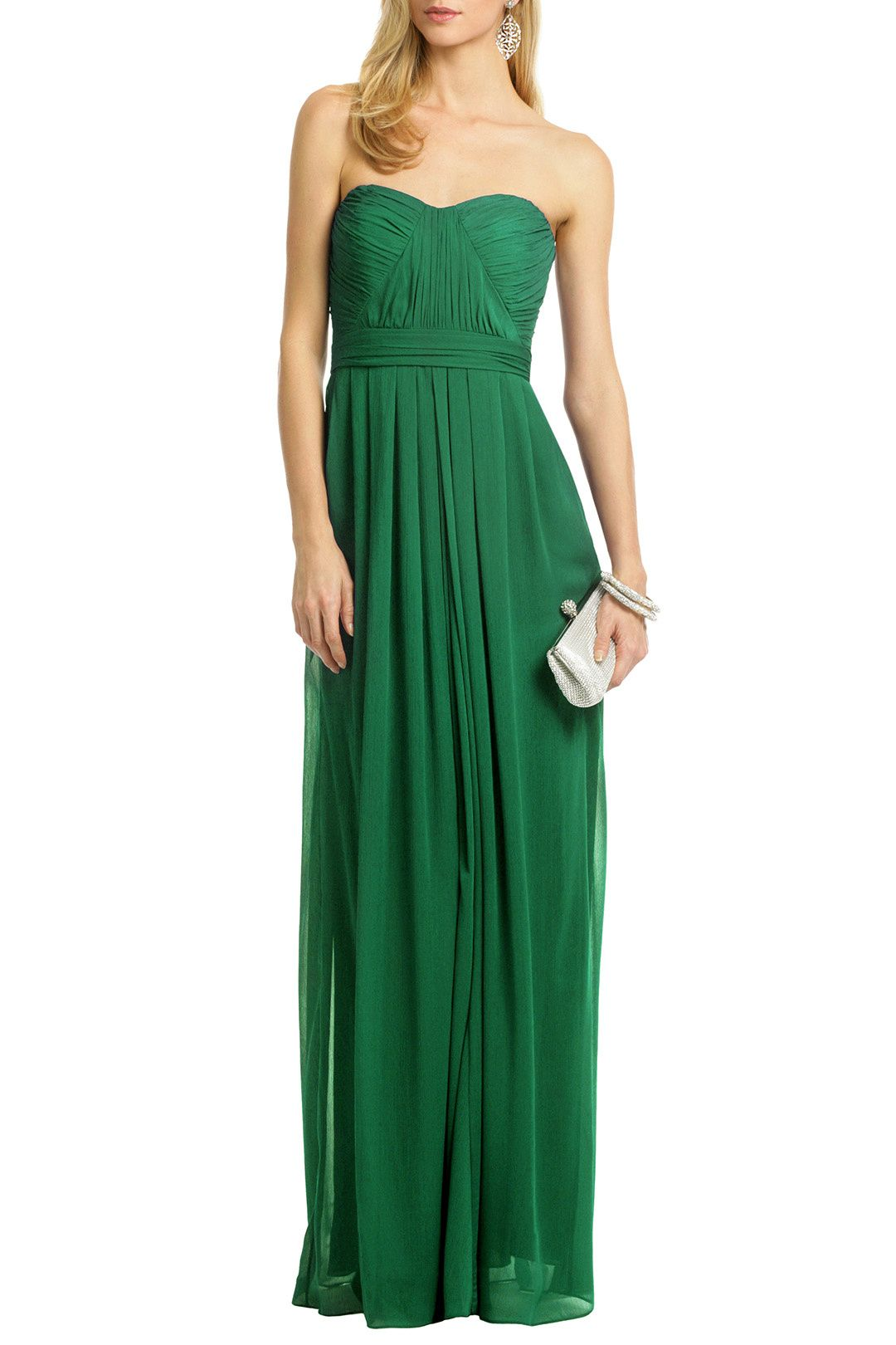 Green with Envy! Flora Chiffon Gown by Badgley Mischka for $70 ...