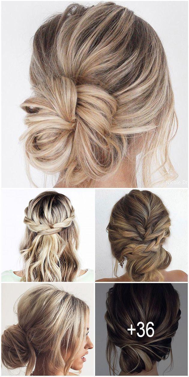 easy wedding hair #wedding #hair #weddinghair 36 C - weddinghair