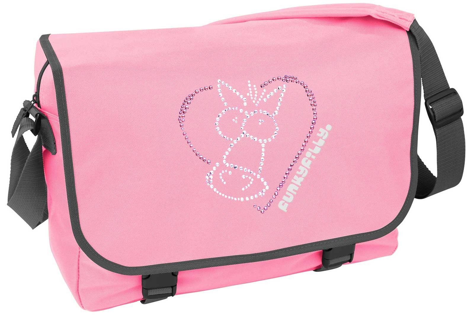 Sparkly Horse Heart School Messenger Bag
