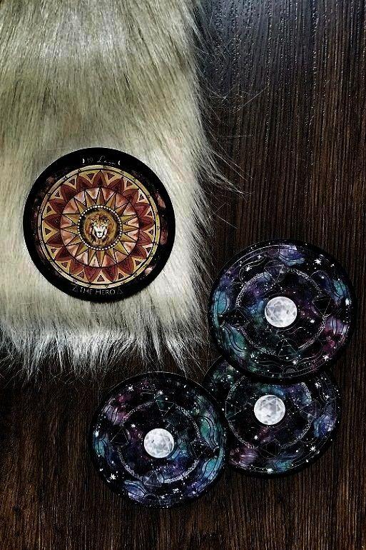 flatlay inspo  moon oracle card deck  astrology oracle card deck flatlay inspiration via themoonandherphases using beautiful oracle card deck by Spirit de la lune  magick...