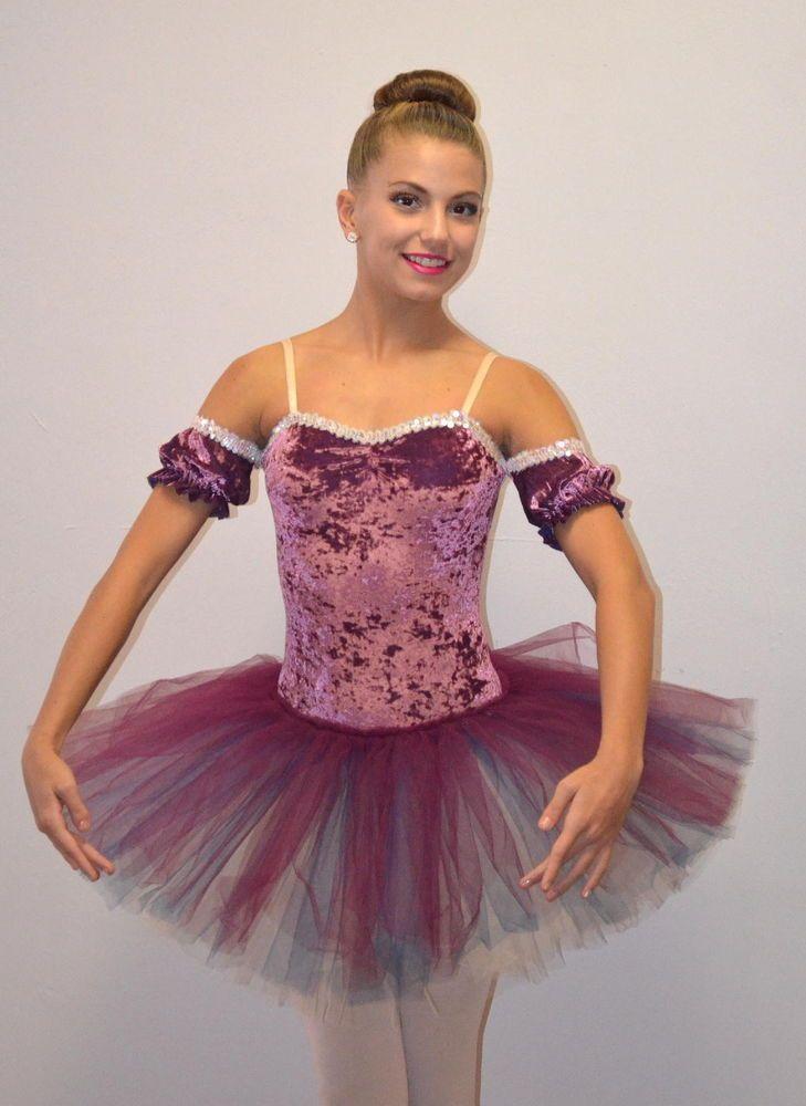 7c2b2edd848f CAMEO SHORT Ballet Powderpuff Tutu Drop Sleeves ROSE Dance Costume Child &  Adult #Cicci
