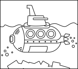 submarine online coloring page