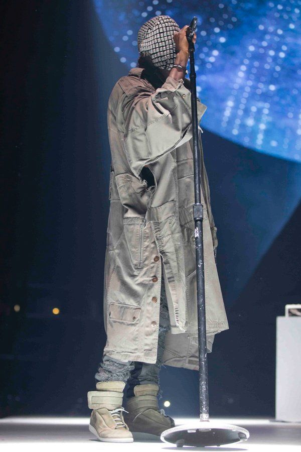 Kanye West In Maison Martin Margiela For Yeezus Tour Yeezus Tour Yeezus Kanye West Mask