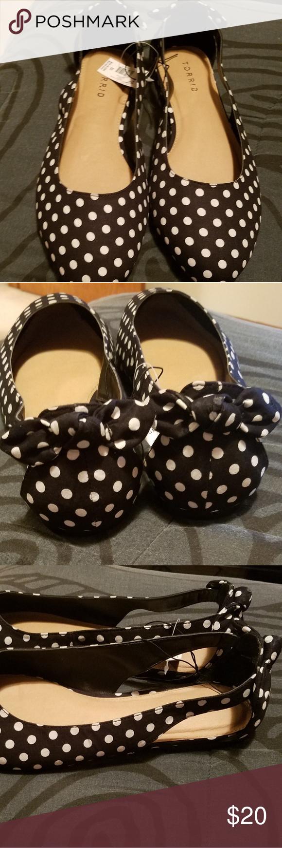 NWT Cute Polka Dot Flats Brand new black and white polka ...