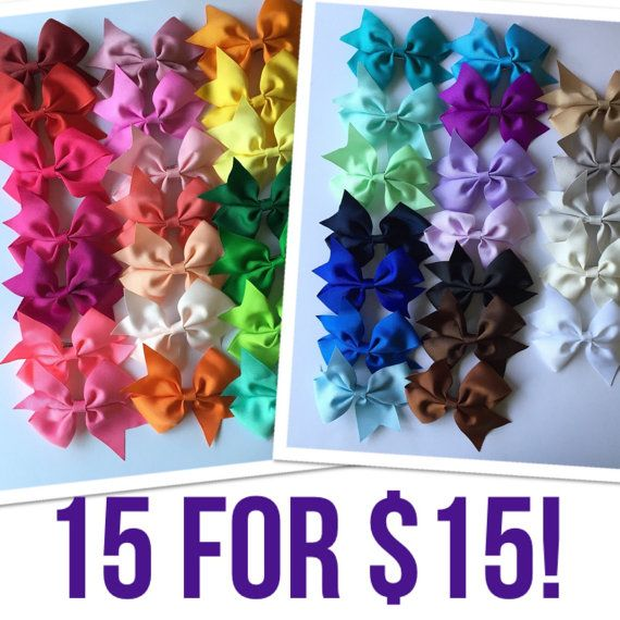 You pick 15 1.00 each cheer hair bows girls hair by BowsforLittle