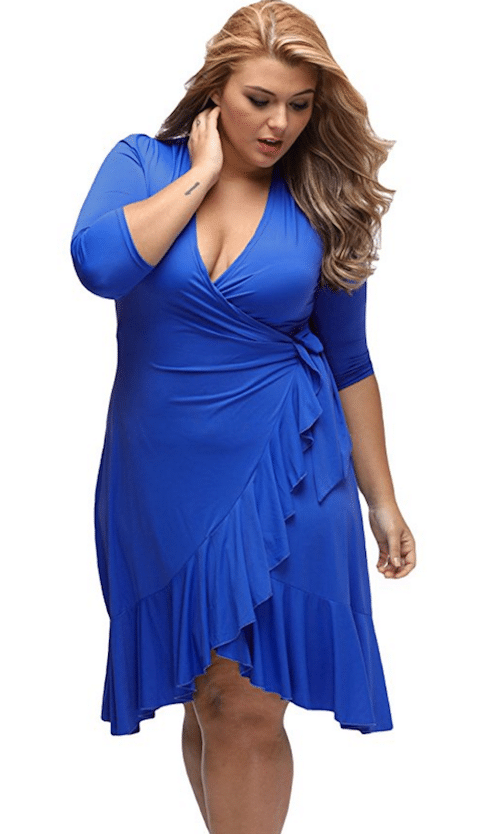 the classic wrap dress gets a makeover at amazon - plus model