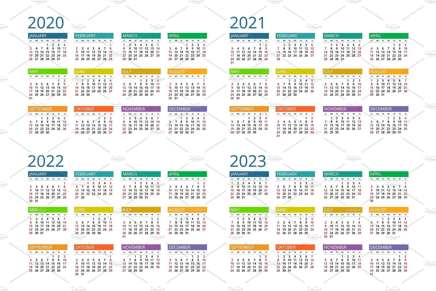 2020 2021 2022 2023 Calendar In 2020 Calendar Calendar 2017 Print Templates