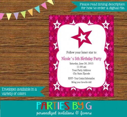 American girl birthday party invites invitations custom personalized stopboris Gallery