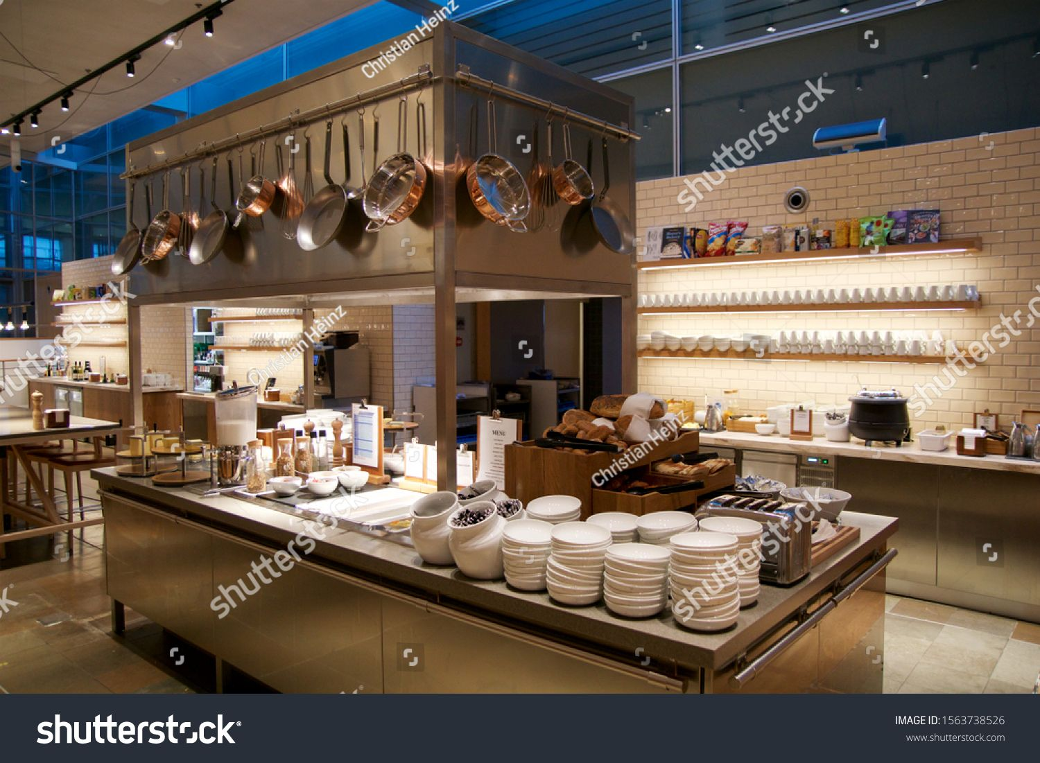 Copenhagen Denmark Nov 24th 2018 Airport Business Class Lounge Interior Of Sas Buffet And Eating Area In A Frequent Flyer Lounge Food And Drink Copenhagen