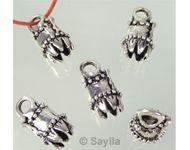 www.sayila.nl - Metaal hanger dopje, bewerkt 23x12mm - 22256