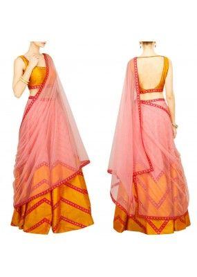 Bollywood Replica - Navratri Special Bright Yellow & Red Lehenga Choli…