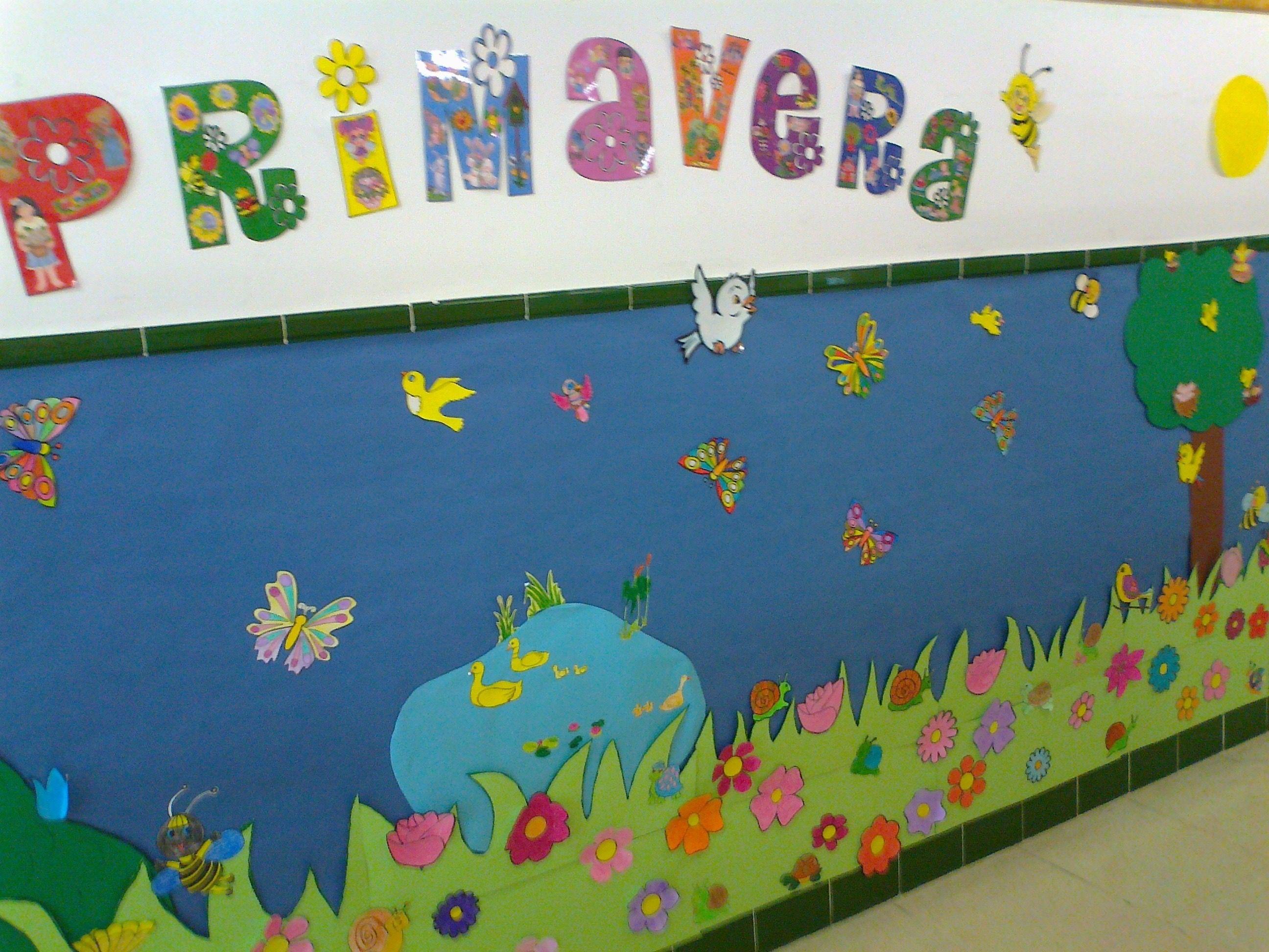 CEIP. F. NUEVA, 1ºA realiza este cartel para celebrar la llegada de la primavera. Curso:2012/13