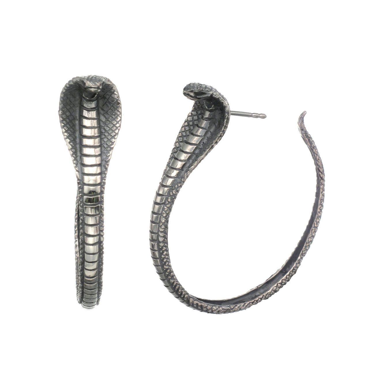 7231f8436 Zoe & Morgan | Cobra Hoop Earrings By Zoe and Morgan | Fashion is my ...