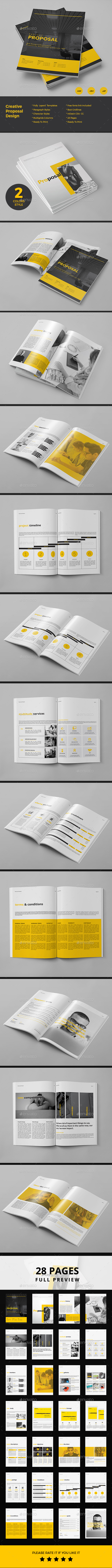Proposal — InDesign INDD #project porposal #modern • Available here ...