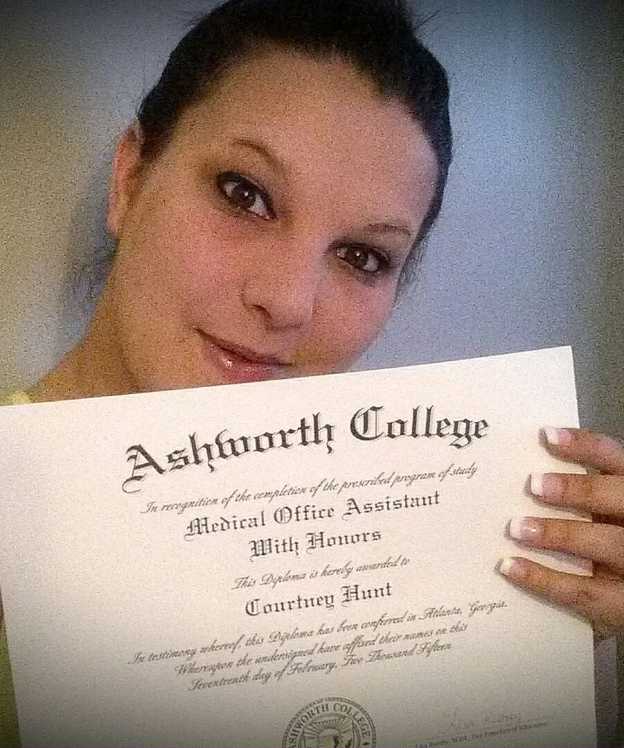 congratulations to courtney hunt  she recently graduated