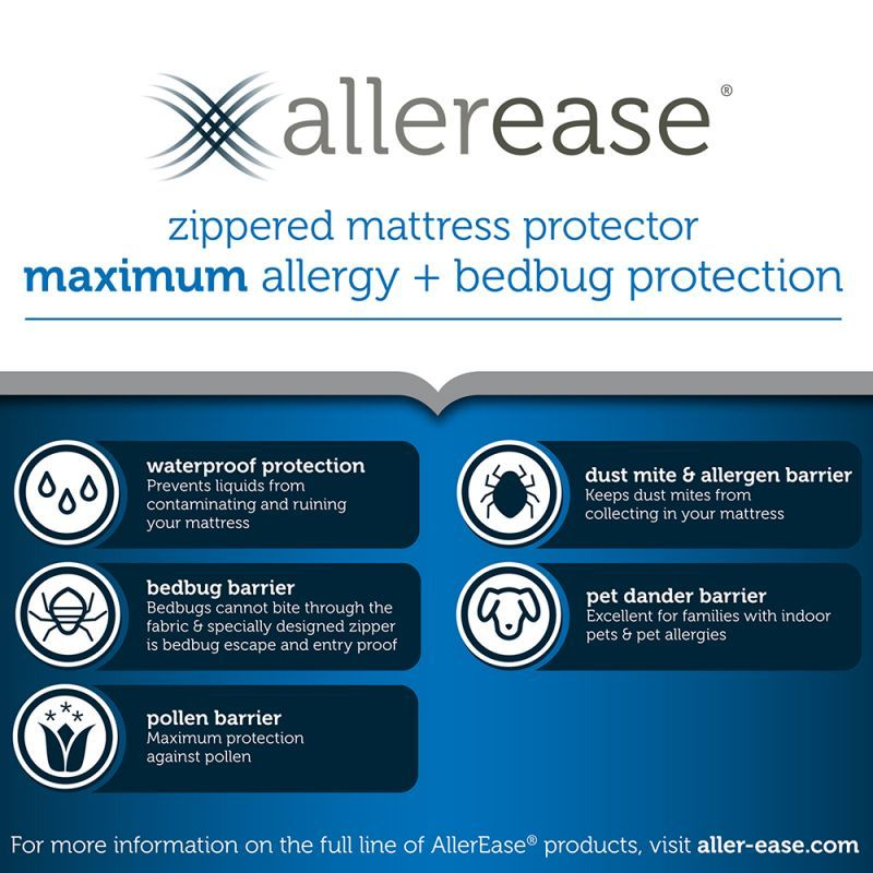 Maximum Allergy And Bed Bug Zippered Mattress Protector Asthma Symptoms In Kids Bed Bugs Asthma Treatment