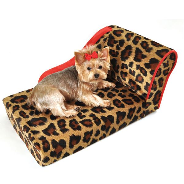 Leopard Chaise Lounge Dog Bed at BaxterBoo  sc 1 st  Pinterest : pet chaise - Sectionals, Sofas & Couches