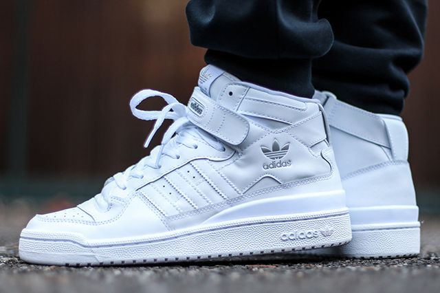 adidas Forum Mid (Triple White) - Sneaker Freaker