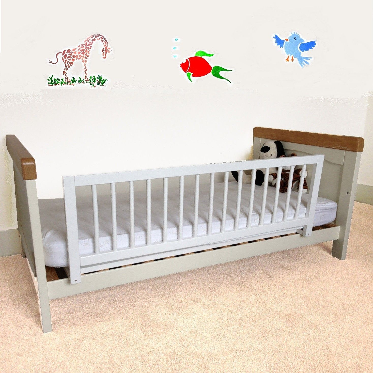 Safetots Wooden Bed Rail White Rails
