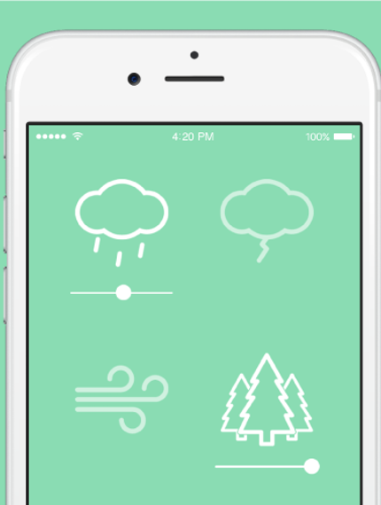 New upvoted product on Product Hunt Noisli (iOS) wishy