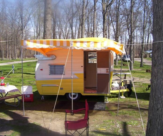 As Promised I Finally Got A Picture Of The Awning On The 61 Shasta