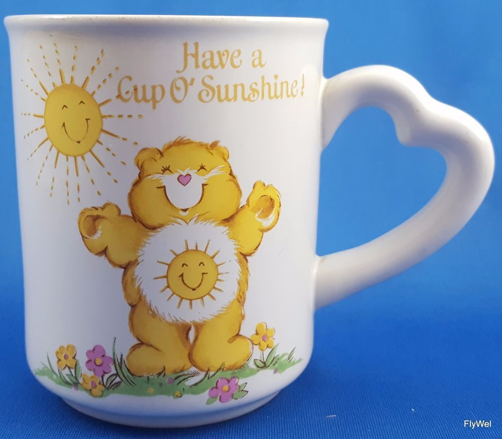 Care Bears Funshine Cup O'Sunshine Coffee Mug Cup 1983 #AmericanGreetings