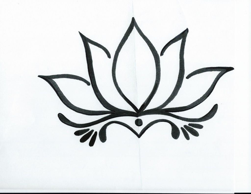 Simple Lotus Flower Drawing Tattoo Tattoo Ideas Pinterestoriginal