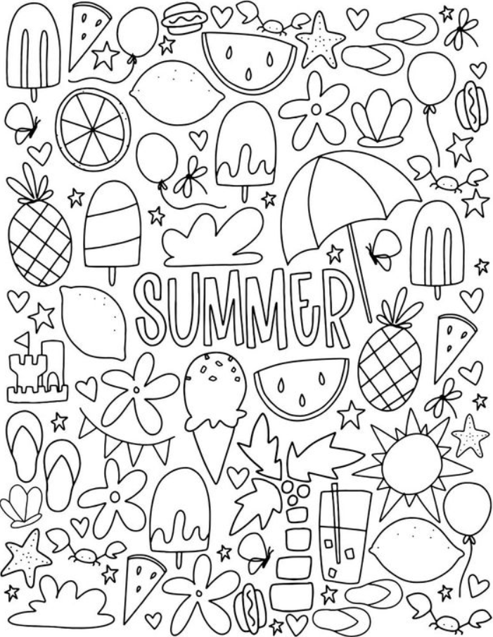 Summer Coloring Pages 01 8211 Summer Coloring Pages Summer Coloring Pages Coloring Pages Printable Coloring Pages