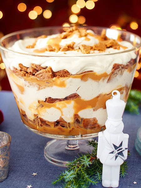Dessert Weihnachten Spekulatius.Spekulatius Toffee Trifle Rezept Enticing Treats In 2019