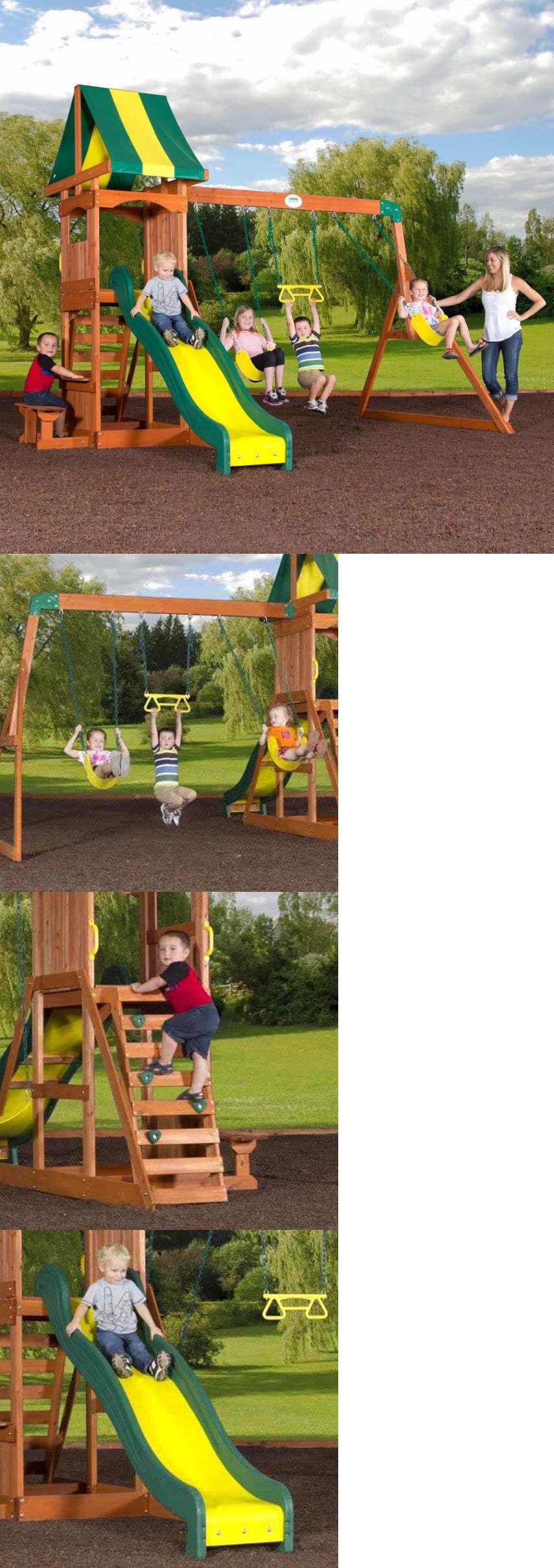 swings slides and gyms 16515 backyard discovery weston cedar